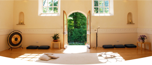 Interior photograph of the Meditation Centre